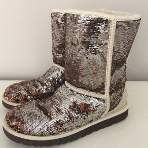 UGG Classic Short Sequin Boots Size US 8